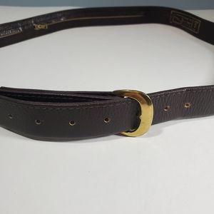 Men's Vintage Belt Brown Gold Large